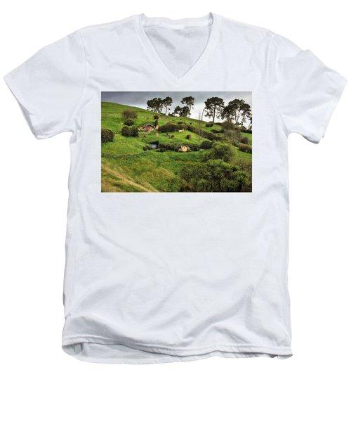Hobbit Valley Men's V-Neck T-Shirt