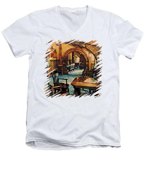 Hobbit Writing Nook T-shirt Men's V-Neck T-Shirt