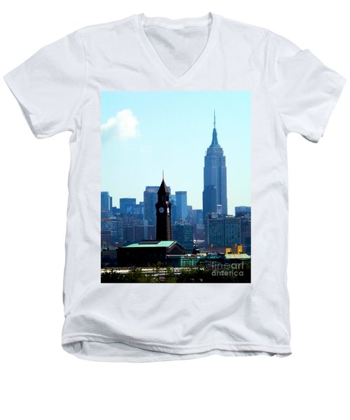 Hoboken And New York Men's V-Neck T-Shirt