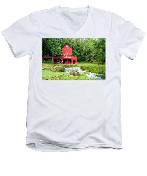 Hodgson Water Mill Men's V-Neck T-Shirt by Cricket Hackmann
