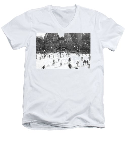 Holiday Skaters Men's V-Neck T-Shirt