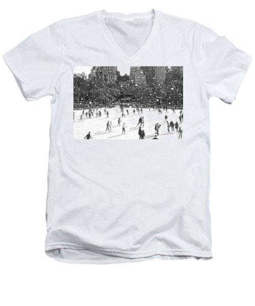 Holiday Skaters Men's V-Neck T-Shirt