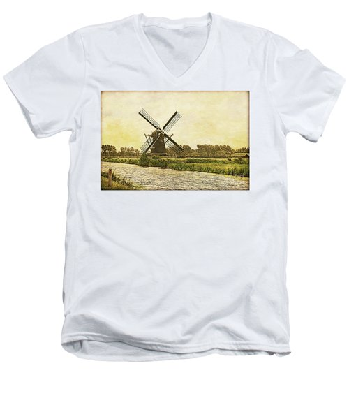 Holland - Windmill Men's V-Neck T-Shirt