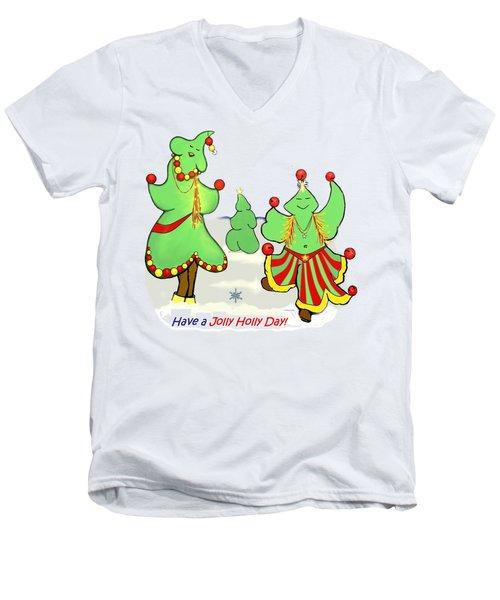 Holly Day Shirt For Children Men's V-Neck T-Shirt