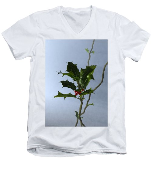 Holly Men's V-Neck T-Shirt
