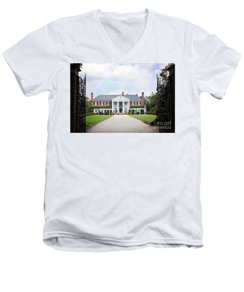 Home At Boone Hall Men's V-Neck T-Shirt