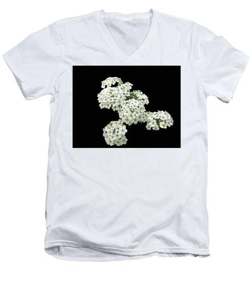 Home Grown White Flowers  Men's V-Neck T-Shirt