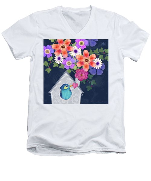 Home Is Where You Bloom Men's V-Neck T-Shirt