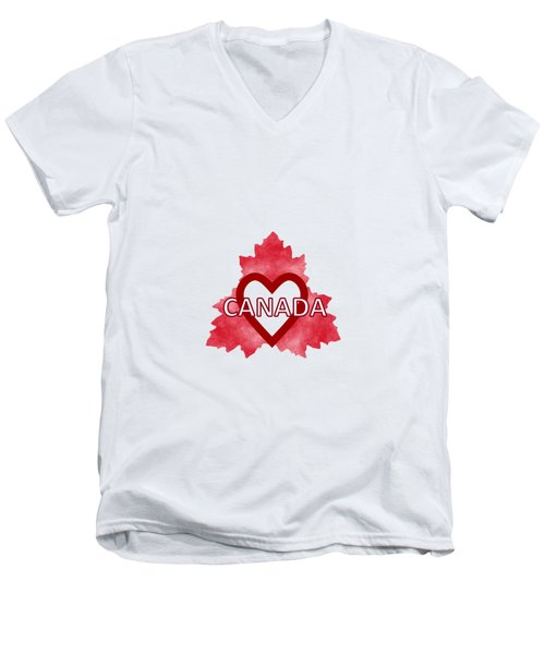 Home Sweet Canada Men's V-Neck T-Shirt by Kathleen Sartoris