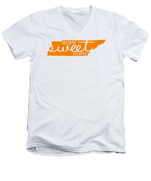 Home Sweet Home Tennessee Men's V-Neck T-Shirt by Heather Applegate