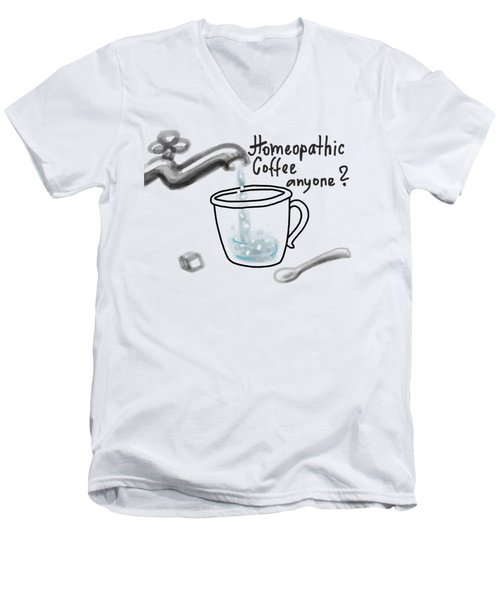 Homeopathic Coffee Men's V-Neck T-Shirt