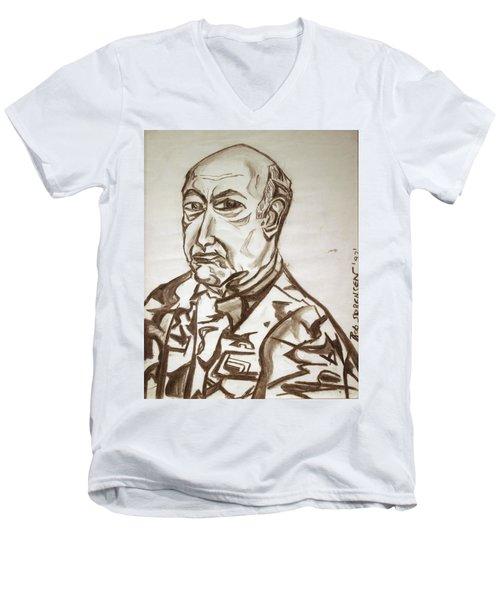 Homme Militaire Men's V-Neck T-Shirt by Robert SORENSEN