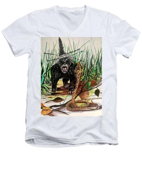 Honey Badger Men's V-Neck T-Shirt
