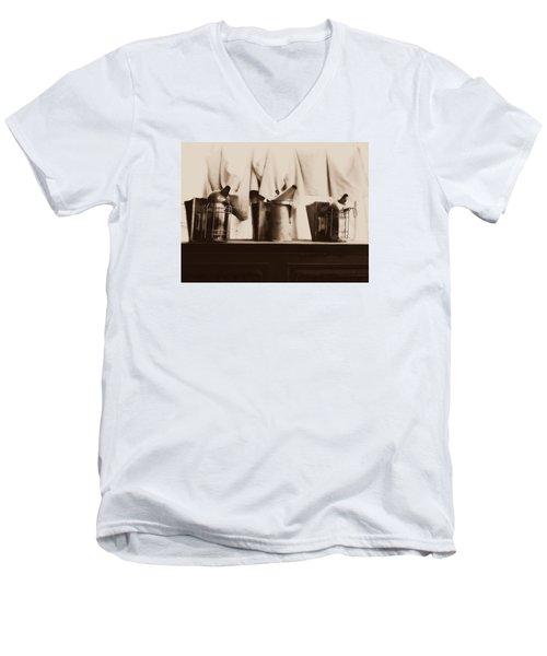 Honeybee Smokers Men's V-Neck T-Shirt by Kristine Nora