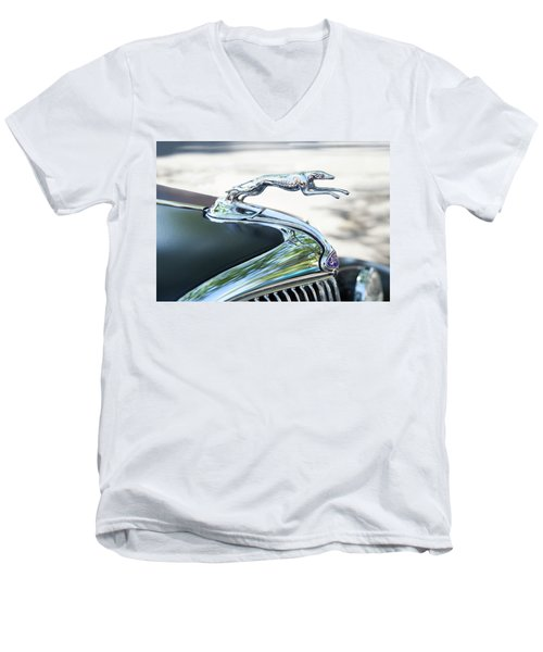 Hood Ornament Ford Men's V-Neck T-Shirt by Theresa Tahara