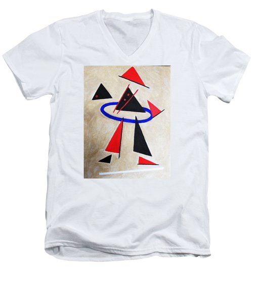Hoola Hoop Men's V-Neck T-Shirt by Tamara Savchenko