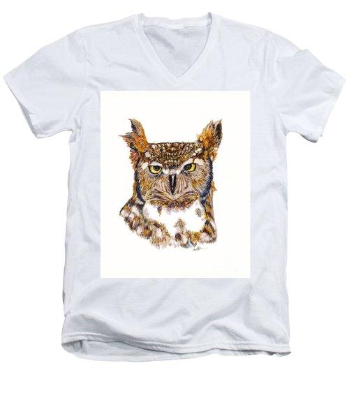 Hoot Men's V-Neck T-Shirt
