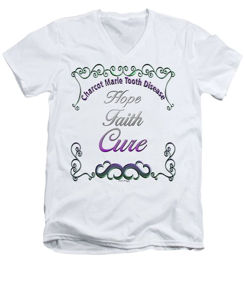 Hope Faith Cure For Cmt Men's V-Neck T-Shirt