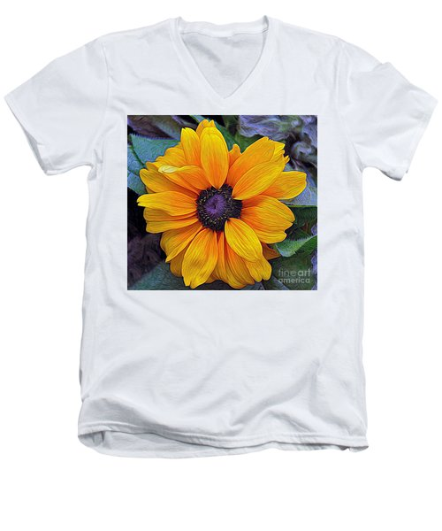 Hope Men's V-Neck T-Shirt by Gina Savage