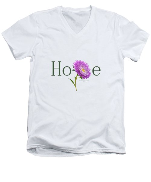 Men's V-Neck T-Shirt featuring the digital art Hope Shirt by Ann Lauwers