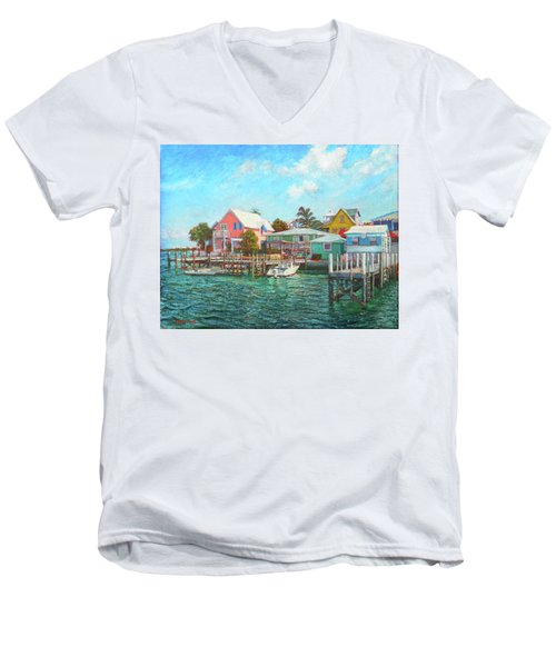 Hope Town By The Sea Men's V-Neck T-Shirt