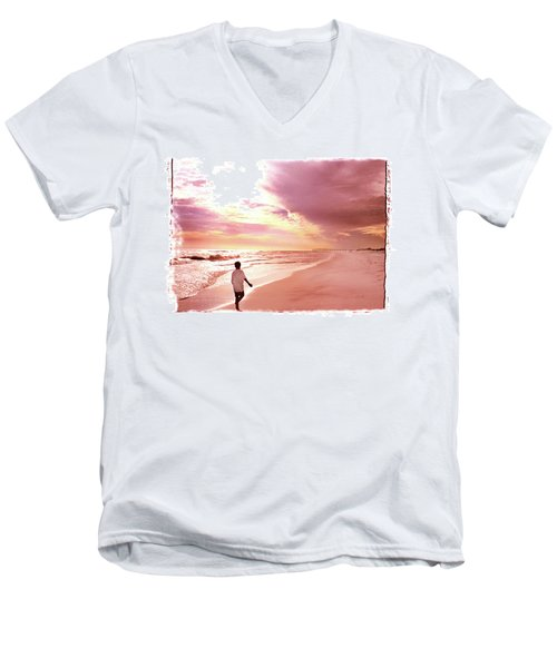 Hope's Horizon Men's V-Neck T-Shirt by Marie Hicks