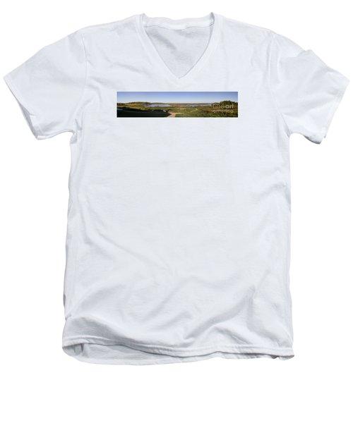Men's V-Neck T-Shirt featuring the photograph Horicon Marsh Wildlife Refuge by Ricky L Jones
