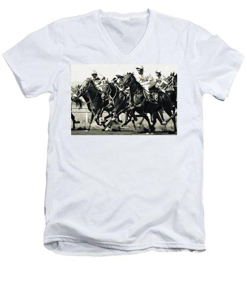 Horse Competition Vi - Horse Race Men's V-Neck T-Shirt