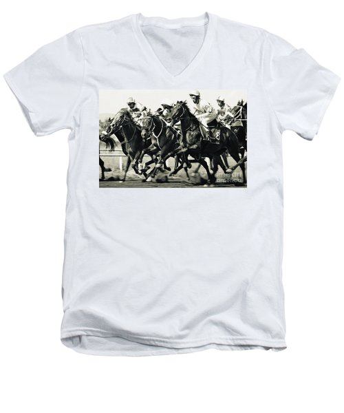 Horse Competition Vi - Horse Race Men's V-Neck T-Shirt