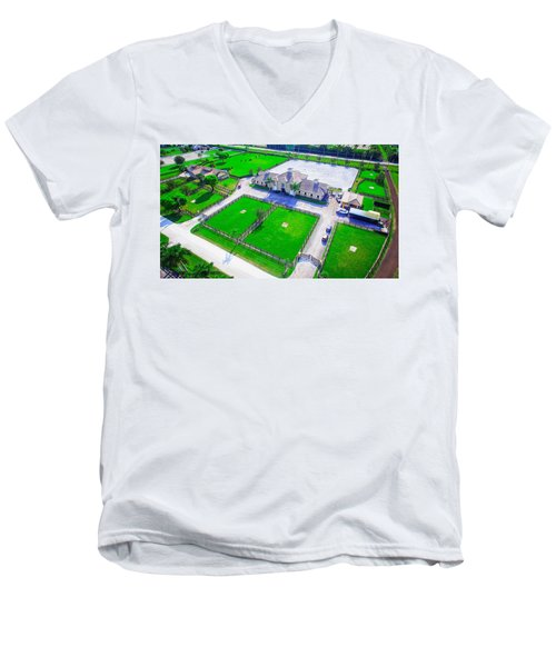 Horse Farm Aerial Men's V-Neck T-Shirt