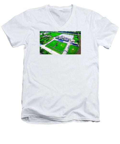 Horse Farm Aerial Men's V-Neck T-Shirt