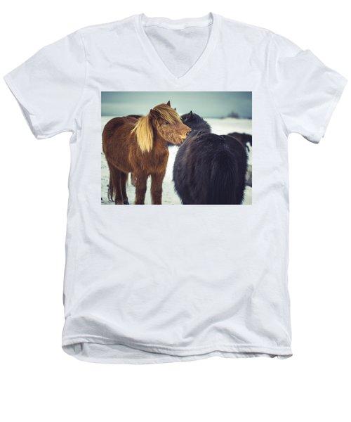 Horse Friends Forever Men's V-Neck T-Shirt