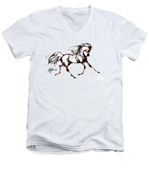 Horse In Extended Trot Men's V-Neck T-Shirt