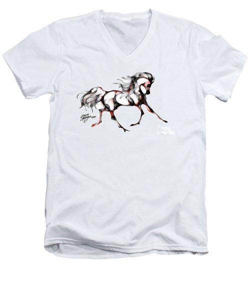 Horse In Extended Trot Men's V-Neck T-Shirt