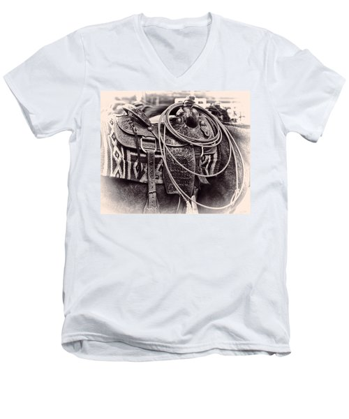 Horse Saddle Men's V-Neck T-Shirt