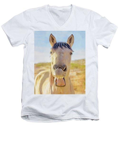Horse Talk #2  Men's V-Neck T-Shirt