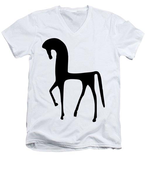 Horse Transparent Men's V-Neck T-Shirt