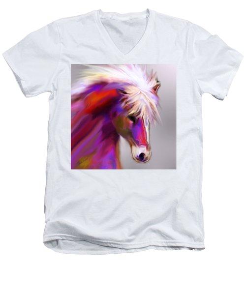 Horse True Colors Men's V-Neck T-Shirt