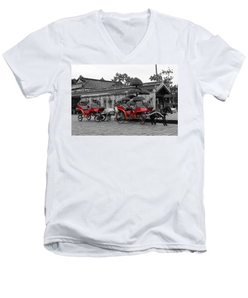 Horses And Carriages Men's V-Neck T-Shirt