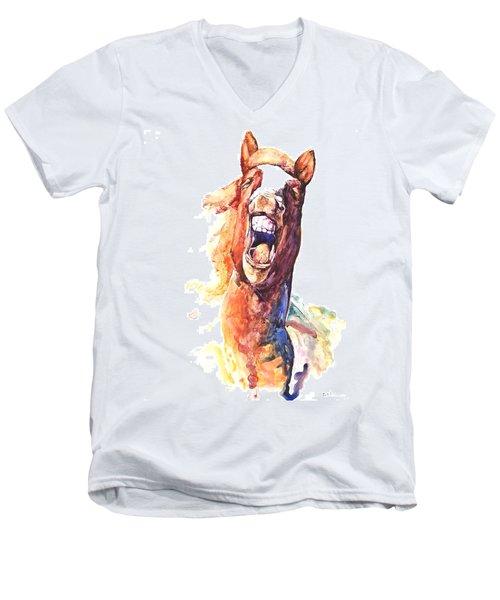 Horsing Around Men's V-Neck T-Shirt