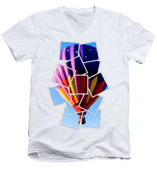 Hot Air Ballooning Tee Men's V-Neck T-Shirt