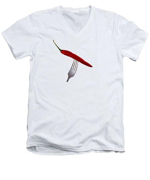Men's V-Neck T-Shirt featuring the photograph Hot Bite by Gert Lavsen