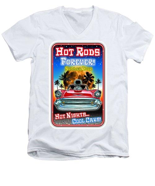 Hot Rods Forever Summer Tour Men's V-Neck T-Shirt