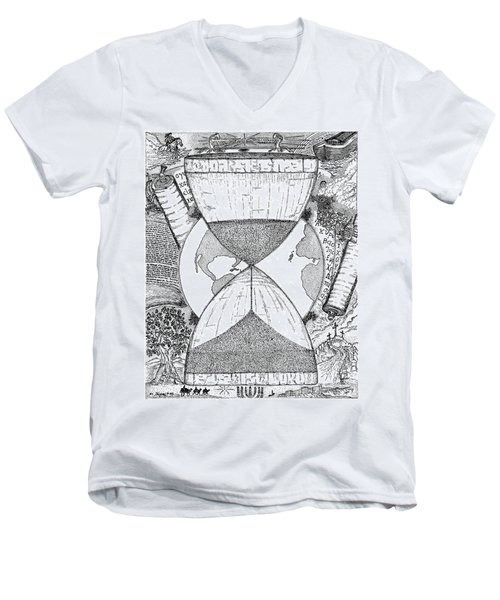 Hourglass Men's V-Neck T-Shirt