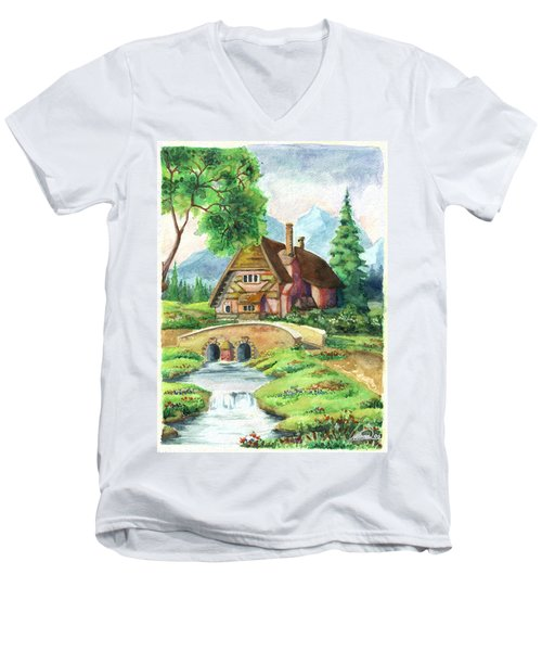 House Along The River Men's V-Neck T-Shirt