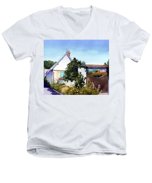 House At Giverny Men's V-Neck T-Shirt