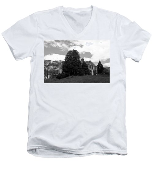 House On The Hill Men's V-Neck T-Shirt by Jose Rojas