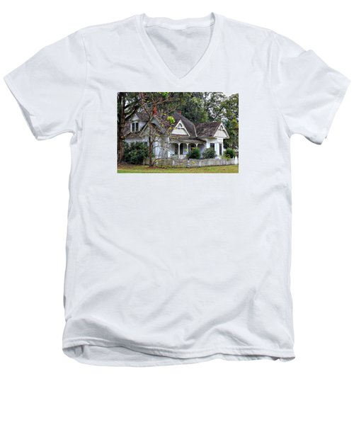House With A Picket Fence Men's V-Neck T-Shirt