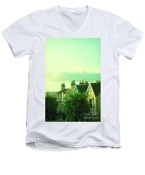 Men's V-Neck T-Shirt featuring the photograph Houses by Jill Battaglia