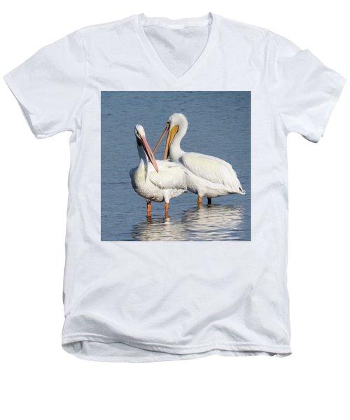 How About A Date Gorgeous? Men's V-Neck T-Shirt by Rosalie Scanlon